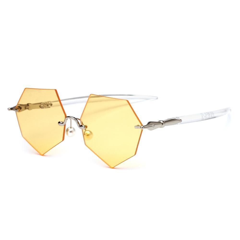 Aoligei Les gros stylo de la Dame de lunettes de soleil lunettes lunettes de soleil polygone personnalité masculine la cadre exempt JGFlo