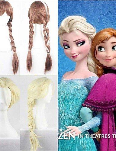SNEED-caliente nieve película peluca reina peluca elsa larga trenza cosplay del anime del pelo