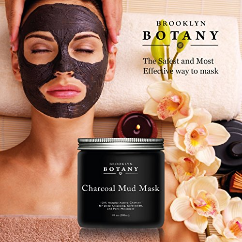 Diy Activated Charcoal Mask To Draw Out Deep Dwelling Pore: Activated Charcoal Mud Mask + FREE Facial Brush