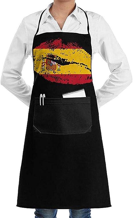 RP Amazing Delantal De Chef,Labios De La Bandera De España ...