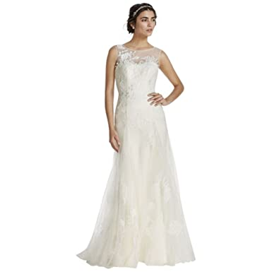 86b7584d Melissa Sweet Tank Tulle Wedding Dress with Beads Style MS251114, Ivory, 0