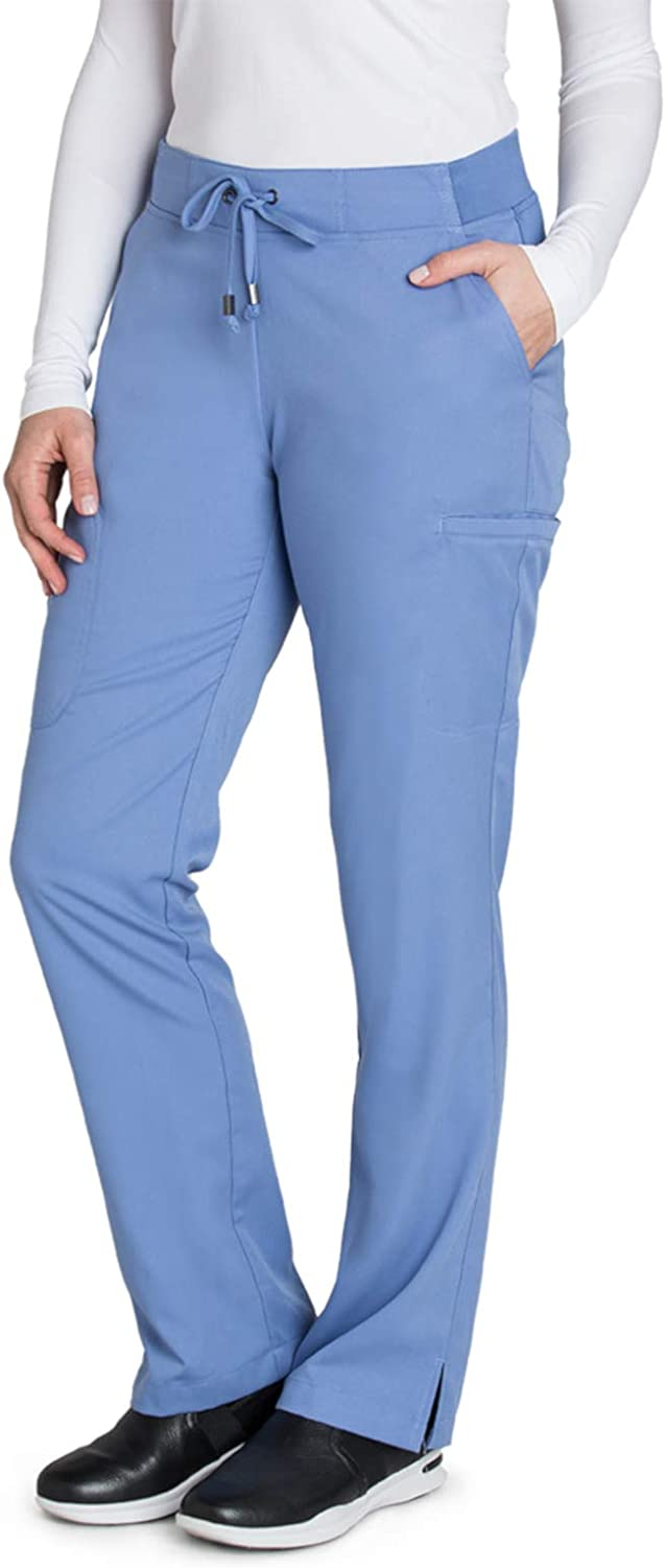 Grey's Anatomy 6-Pocket Flat Front Pant for Women– Modern Fit Medical Scrub Pant