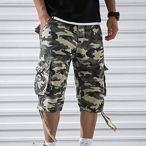 OEAK Shorts Cargo Homme Rétro Baggy Pantacourt Camouflage Outdoor Bermudas Casual Combat Pantalon Court Militaire Multi… 2