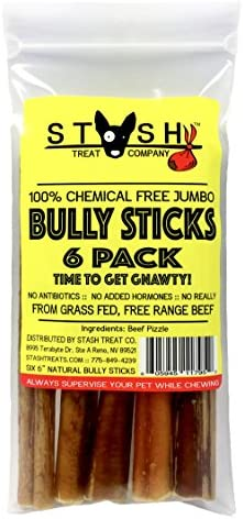 Stash Natural Jumbo Bully Sticks – 6 inch – 6 Pack