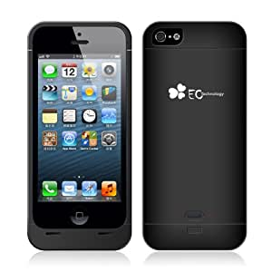 EC TECHNOLOGY New Retail Packaging 2000 mAh Rechargeable Battery Juice Black Protective Backup Battery Case For All Of iphone 5 Models-AT&T, Verizon & Sprint
