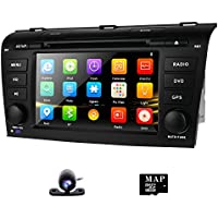 DVD GPS Navigation for Mazda 3 2004-2009 Radio Stereo with Navigation SD Card + Backup Camera AM FM Bluetooth 3G 1080p Canbus 7 Touch Screen with Remote Control