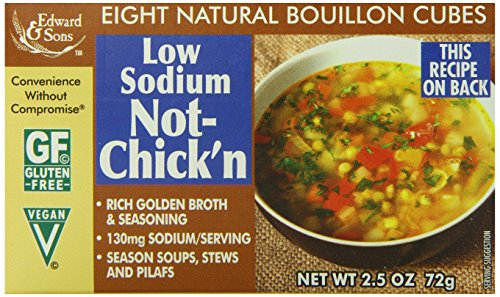 Edward & Sons Natural Bouillon, Low Sodium Not-Chick'n, 2.5 Ounce (Pack of 12) ()
