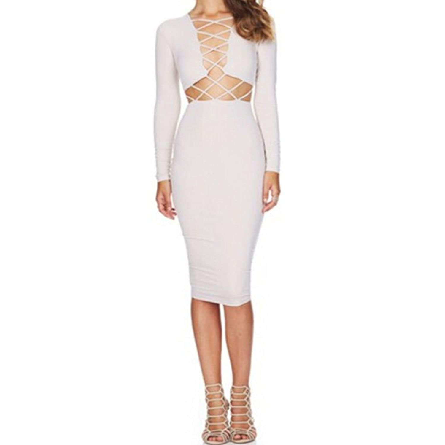 Lanrui Damen Club Bandage Dress Kleid