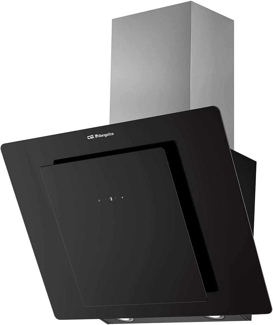 Orbegozo DS 75170 N – Campana extractora, 69.5 cm, frontal cristal templado, extracción 579 m3/h, 3 niveles de potencia, 210 W