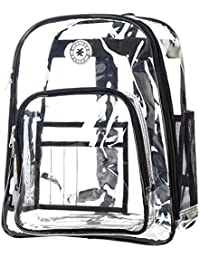 Heavy Duty Clear Backpack See Through PVC Stadium Security Transparent Workbag