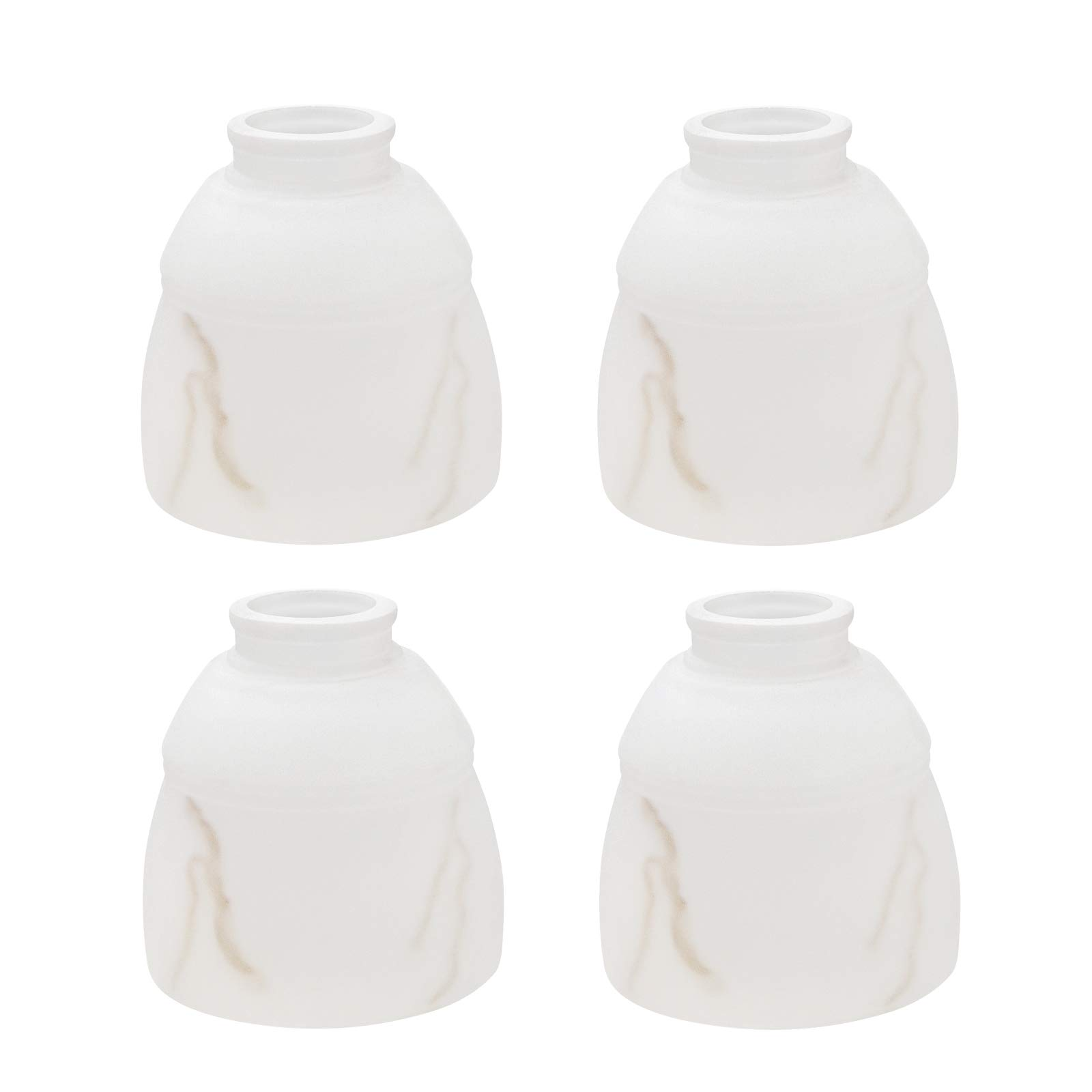 Aspen Creative 23035-4 Transitional Style Frosted Faux Alabaster Shade, 2-1/8'' Fitter Size, 5'' high x 4-3/4'' Diameter, 4 Pack Replacement Glass,