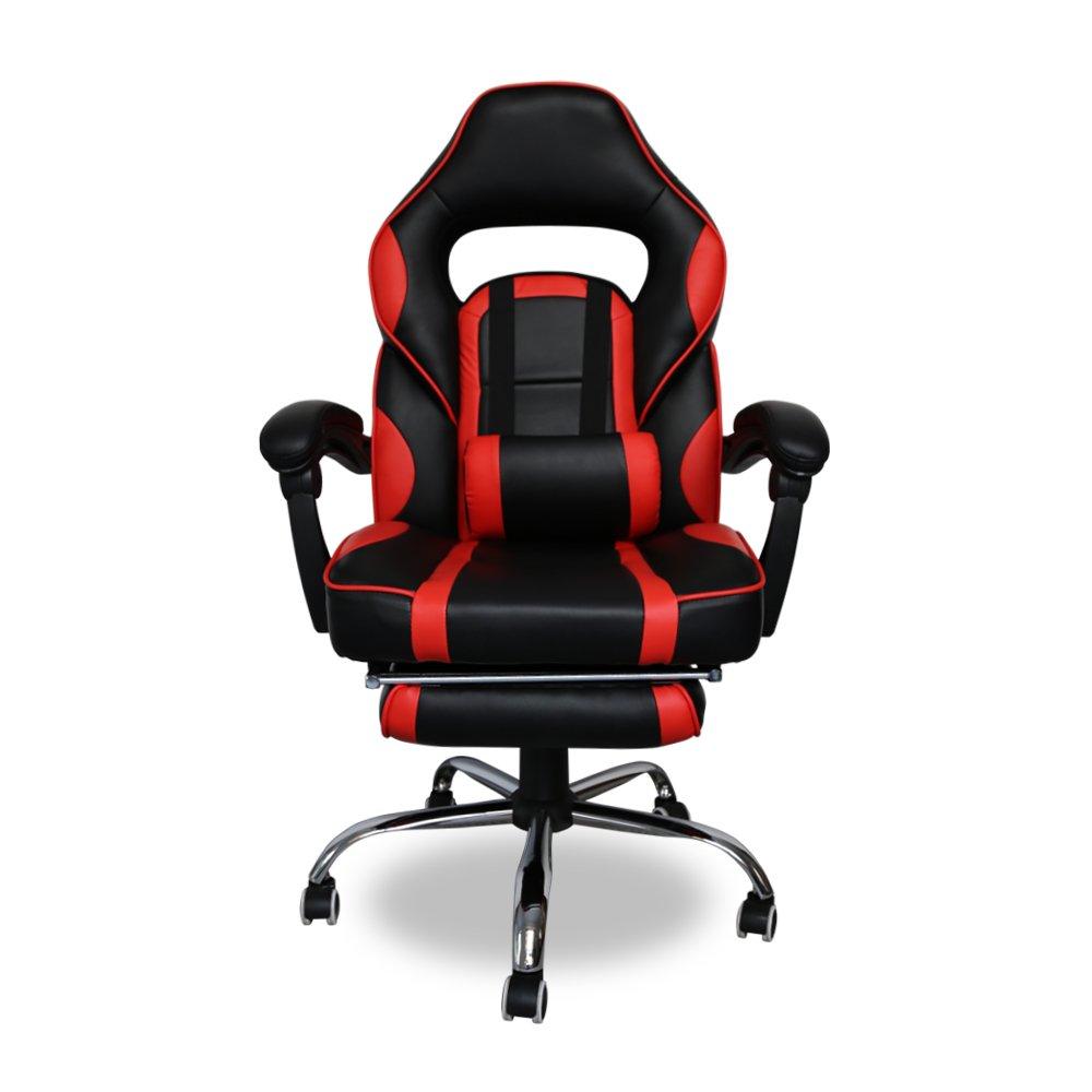 HG Silla Giratoria De Oficina Gaming Chair Apoyabrazos Acolchados Premium Comfort Silla Racing Capacidad De Carga 200 Kg Altura Ajustable Negro/Rojo: ...
