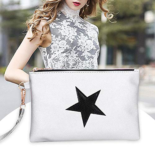 Wallet Wristlet Long Leather Lady bags Clutch Star Shoulder women Purse Women Widewing Casual Phone Silver for Coin A4Z0qwzB
