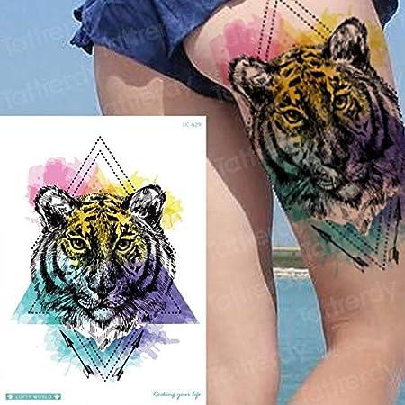 HXMAN 5 Unids Temporal Tigre Tatuaje Impermeable Temporal Tatuaje ...