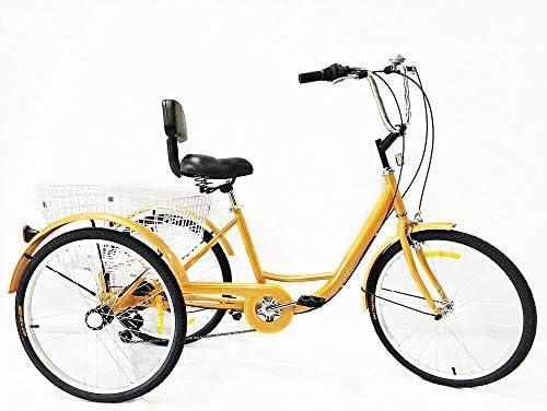 OUKANING Triciclo Adultos de 6 Velocidades, Bicicleta con 3 Ruedas ...