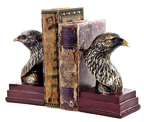 Bellaa 23378 Eagle Bookends Majestic Oval Office Decor 7.5