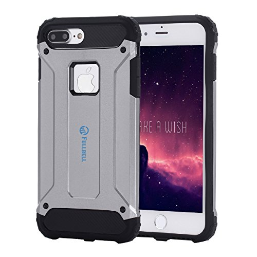 iPhone 7 Plus Case FULLBELL Shockproof Scratch-Resistant Resist Cracking Armor Protective Cover Easy Grip Design Hard PC Soft Silicone Back Case Skin for Apple iPhone 7 Plus 5.5