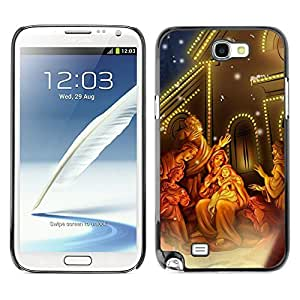 YOYO Slim PC / Aluminium Case Cover Armor Shell Portection //Christmas Holiday Miracle Baby Jesus 1296 //Samsung Note 2