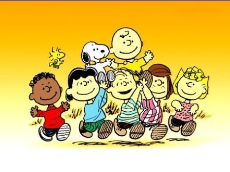 Peanuts Charlie Brown and Friends Edible Image Cake