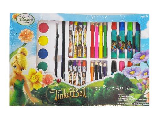 Disney Fairies 33 Piece Art Set - TinkerBell Stationary Art - Stationary Tinkerbell