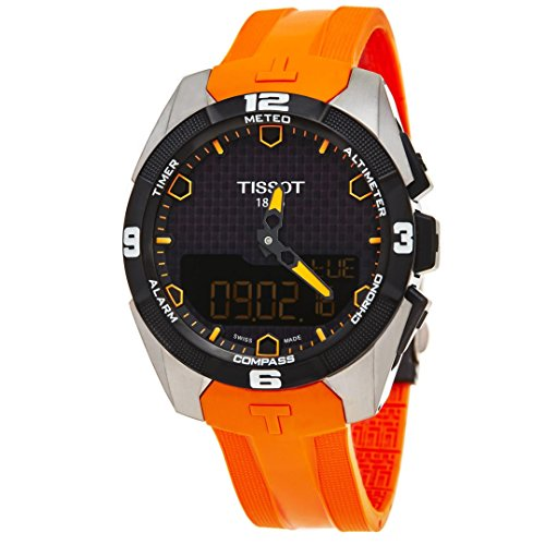 Titanium and Silicone Casual Watch, Color:Orange (Model: T0914204705101) (T-touch Titanium Watch)
