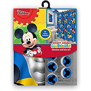 This Item 13pc Disney Mickey Mouse Clubhouse Shower Curtain And Hooks Set