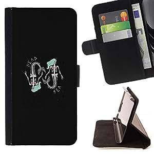 Momo Phone Case / Flip Funda de Cuero Case Cover - Sirena Esqueleto;;;;;;;; - Sony Xperia Z3 Compact