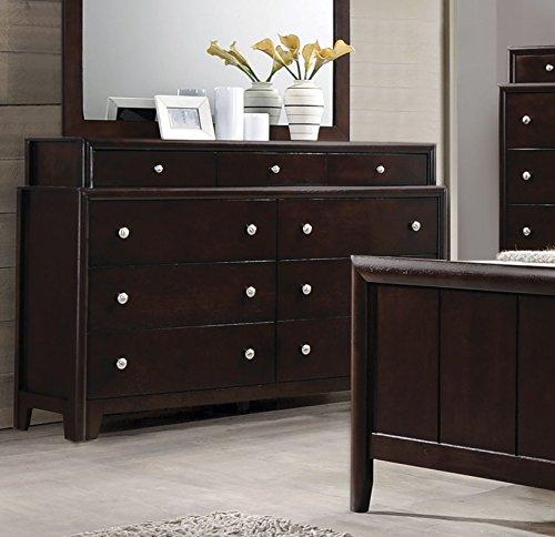 Coaster 204883-CO Maddison 9 Drawer Dresser, Dark Merlot -