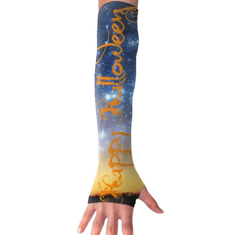 MASDUIH Happy Halloween Gloves Anti-uv Sun Protection Long Fingerless Arm Cooling Sleeve For Men And Women