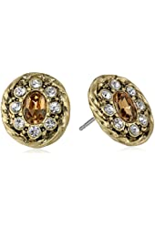 "Carolee ""Brown Eyed Girl"" Twisted Button Earrings"
