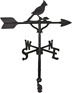 product image for Montague Metal Products 32-Inch Weathervane with Satin Black Cardinal Ornament