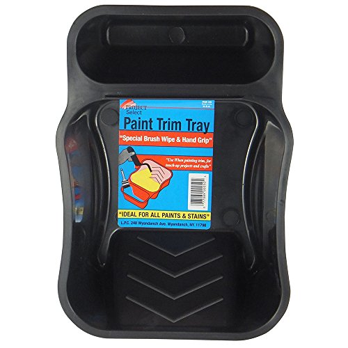 Linzer RM 50 Rm50 Dual Cavity Mini Paint Roller Tray, 1/2 Pt Capacity, 3 in, Plastic, 7-1/4