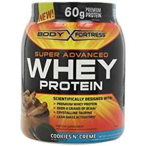 Body Fortress Whey Protein Powder, 31.2 Ounces (cookies_&_cream, 1 Pack)