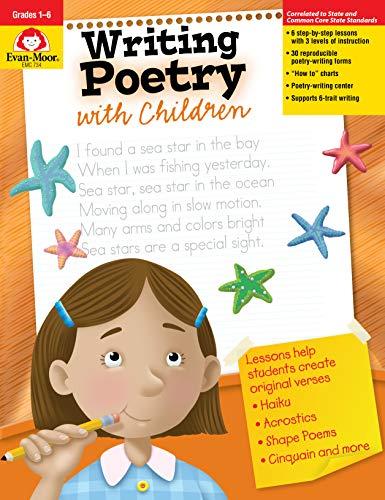 (Evan-Moor Writing Poetry with Children, Grade 1-6 Activity Book - Supplemental Teaching Resource Workbook Inspires Poets)