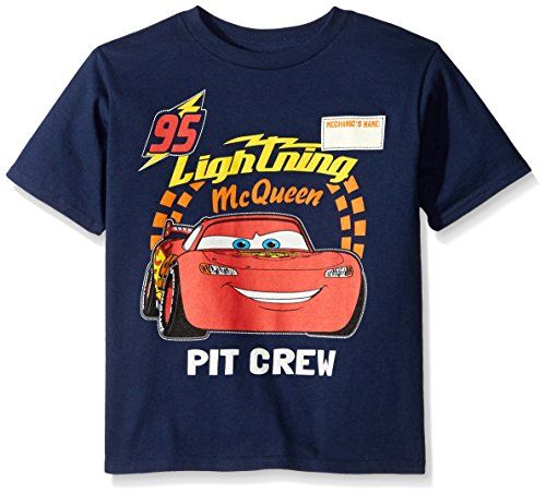 Disney Boys' Little Boys' Cars Lightning Mcqueen T-Shirt, Navy, Small/4
