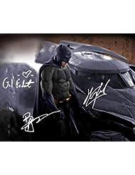 BATMAN V SUPERMAN Signed REPRINT 8x10 inch photograph Reprinted from Original HENRY CAVILL BEN AFFLECK GAL GADOT 02
