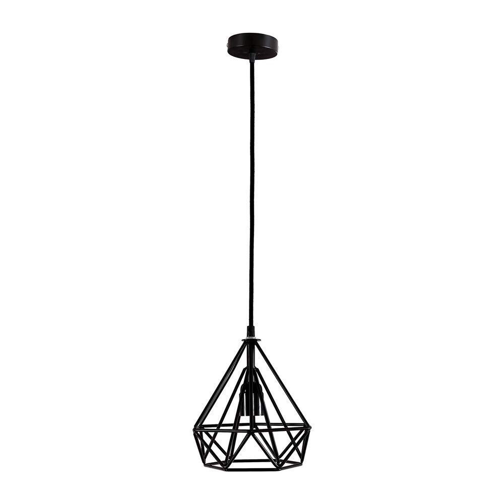 Suspension Décorative de Mode, Lampe de Fer Et Abat-Jour en Métal, 20  20  21 Cm, 1  E27, Noir, ChuanHan