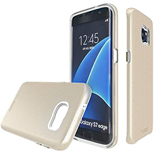 Galaxy S7 Edge case, s7e, S7Edge Toiko [X-Guard] [Gold]. A sturdy, beautiful, protective case made of two layers Sales