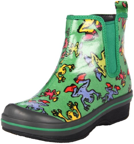 Dansko Kids Green Frogs Vicki Vegan Rain Boot 28 B(M) US