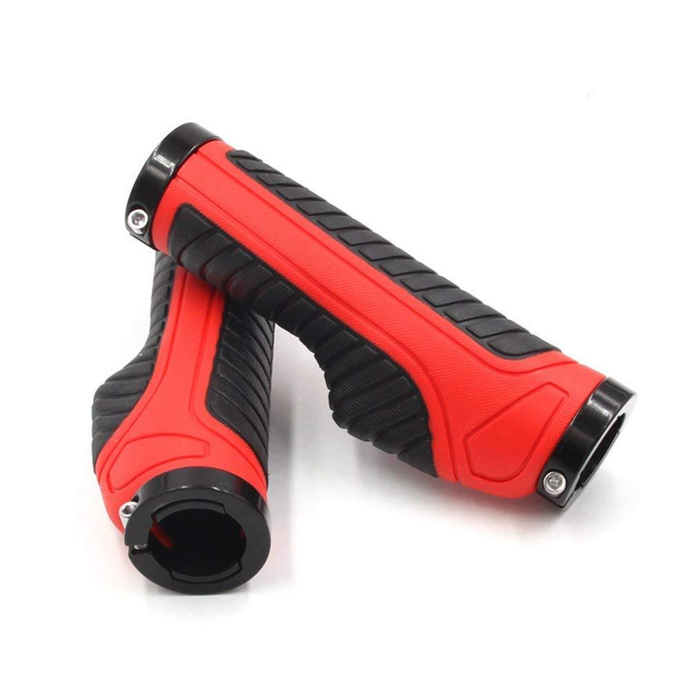 BFHCVDF Confort Forma ergon/ómica Manillar de Bicicleta Pu/ños Ergo Ciclismo de Goma Grips de Bicicleta Rojo