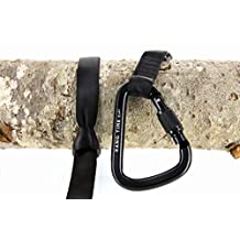 """Premium Tree Swing Strap Hanging Kit - Made of the Same Super Strong 1"""" Tubular Webbing Used by Professional Arborists Everywhere. Comes with Carabiner for Instant Awesome Swing Connection!"""