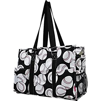 Ocean Themed Prints NGIL Large Travel Caddy Organizer Tote Bag (Baseball Print)