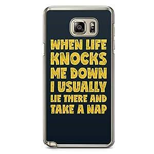 Samsung Note 5 Transparent Edge Phone Case Nap Time Phone Case Nap Phone Case Funny Note 5 Cover with Transparent Frame