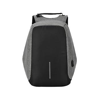 Mochila Inteligente 16.9 Inch Anti-robo Multifunción Port USB Portátil de Negocios Hombre Mujer (Gris): Amazon.es: Deportes y aire libre