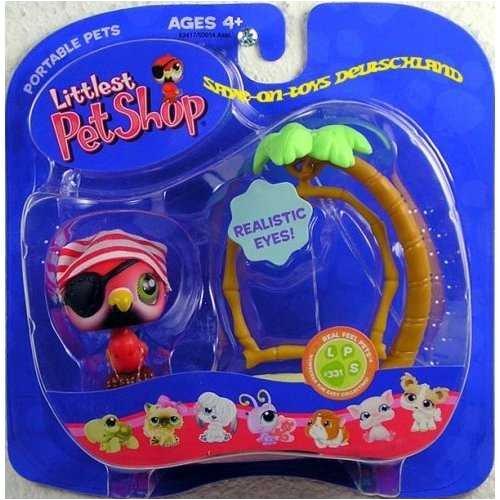 Littlest Pet Shop - Portable Pets - Set mit Piraten Vogel LPS 331