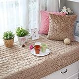 AMYDREAMSTORE Plush Cushion Non-slip slipcovers Solid Color Bay Window Cushion Padded Tatami Mats Seats Balcony Blanket Sofa Slipcovers-F 70x180cm(28x71inch)