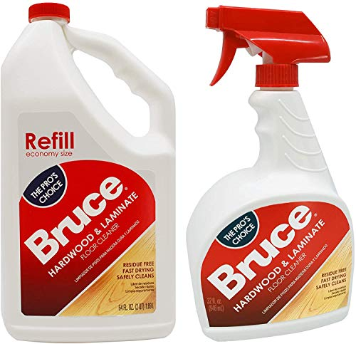 Bruce 64 oz+32oz NoWax Hardwood and Laminate Floor Cleaner Value Pack, Packaging May Vary (Two Packs)