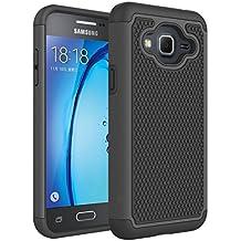 Galaxy J3 Case, Express Prime Case, Amp Prime Case, NOKEA [Shock Absorption] Hybrid Armor Defender Protective Case Cover for Samsung Galaxy J3 / Express Prime / Amp Prime (Black)