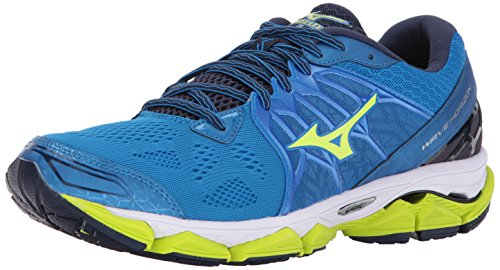 Mizuno Wave - Mizuno Running Men's Wave Horizon Running Shoes, Directoire Blue/Safey Yellow/Peacoat, 11 D US