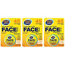 Ocean Potion Face SPF#45 Zinc Oxide 30 ml Bonus (3-Pack) with Free Nail File